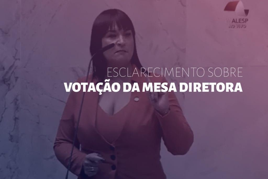 ADRIANA BORGO - esclarecimento votacao mesa diretora