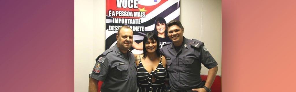 Adriana Borgo - Visita dos Amigos Policiais Militares