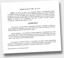 Adriana Borgo - Indicacao Regimento Disciplinar da PM