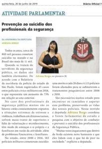 Adriana Borgo - Na Midia- Diario Oficial do Estado de Sao Paulo - 20 de junho de 2019