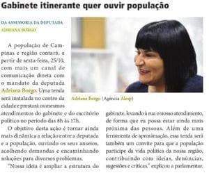 Adriana Borgo na Midia - Diario Oficial do Estado de Sao Paulo - 23 de Outubro de 2019