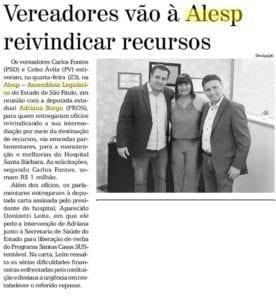 Adriana Borgo na Midia - Diario de Santa Barbara - 25 de Outubro de 2019