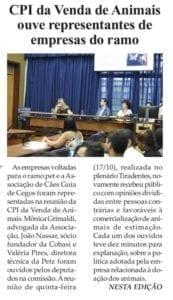 Adriana Borgo na Midia - Folha da Cidade - Araraquara - 20 de Outubro de 2019