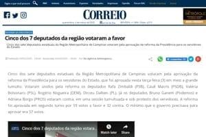 Adriana Borgo - na Midia - Correio Popular - Campinas - 03 de marco de 2020