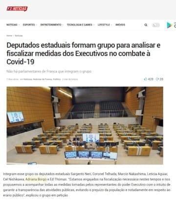 Adriana Borgo - Na Midia - F3 Noticias - 13 de maio de 2020