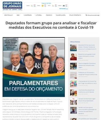 Adriana Borgo - Na Midia - Grupo Uniao de Jornais - 20 de maio de 2020