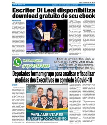 Adriana Borgo - Na Midia - Jornal Uniao do ABC - 21 de maio de 2020