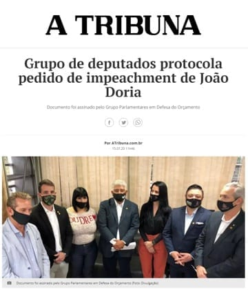 Adriana Borgo - Na Midia - A Tribuna - 15 de julho de 2020