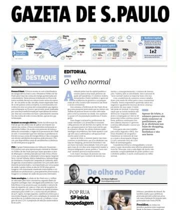 Adriana Borgo - Na Midia - Gazeta de SP - 13 de julho de 2020