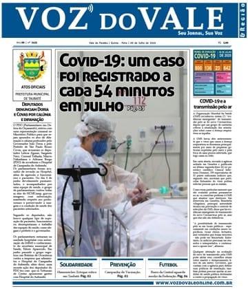 Adriana Borgo - Na Midia - Jornal Voz do Vale - Vale do Paraiba - 10 de julho de 2020