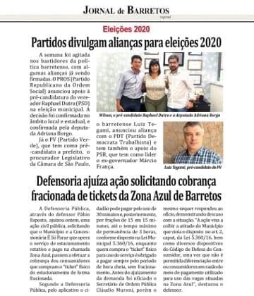 Adriana Borgo - Na Midia - Jornal de Barretos - 25 de julho de 2020