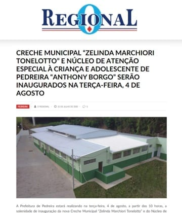 Adriana Borgo - Na Midia - O Regional - 31 de julho de 2020